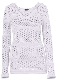 Alternate View Long Sleeve Hooded Sweater