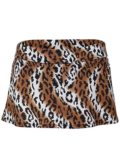 Plus Size Mid Rise Swim Skirt Bikini Bottom
