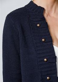 Alternate View Tab Button Detail Cardigan