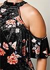 ALTERNATE VIEW Cold Shoulder Velvet Top