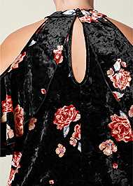 Alternate View Cold Shoulder Velvet Top