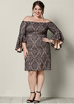 1662585d9 plus size sleeve detail dress