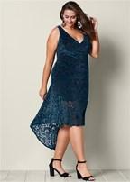 plus size textured velvet dress