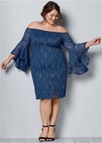 plus size sleeve detail dress
