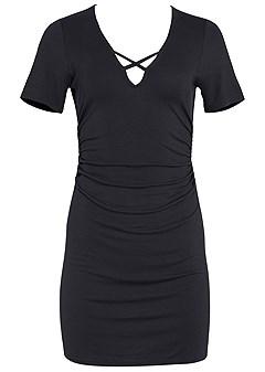 plus size v-neck t-shirt dress