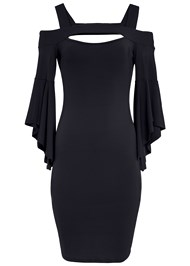 Ghost with background  view Cold Shoulder Bodycon Dress