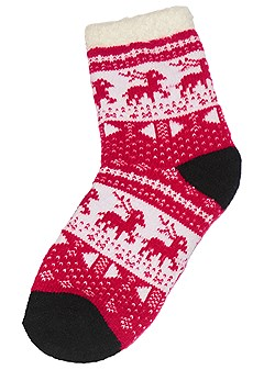 wooby plush printed socks