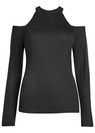 Alternate View Ribbed Long Sleeve Top