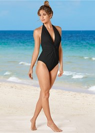 Front View Twist Front One-Piece