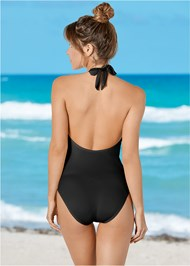 Back View Twist Front One-Piece