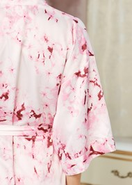 Alternate View Satin Kimono