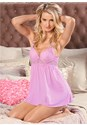 Front View Lace Shoulder Babydoll