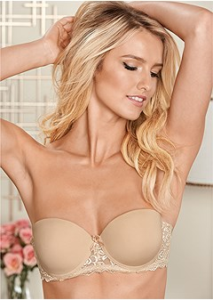convertible lace pushup bra
