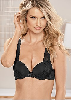 lace shoulder pushup bra