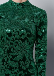 ALTERNATE VIEW Sequin Detail Velvet Dress