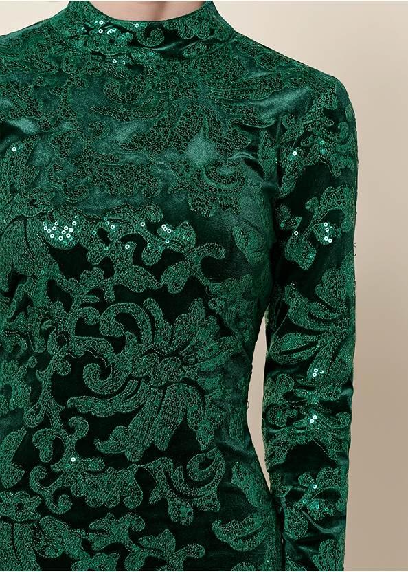 ALTERNATE VIEW Sequin Detail Velvet Dress