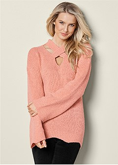 crisscross detail sweater