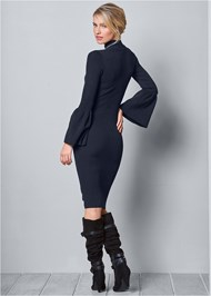 Alternate View Sleeve Detail Sweater Dress