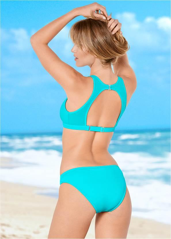 Back view Mesh High Neck Bikini Top