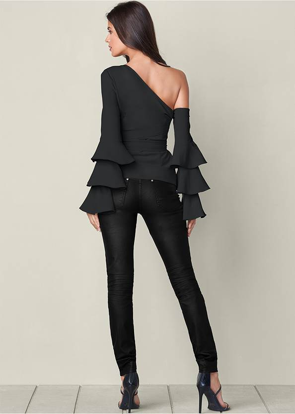 Back View Ruffle Off-The-Shoulder Top