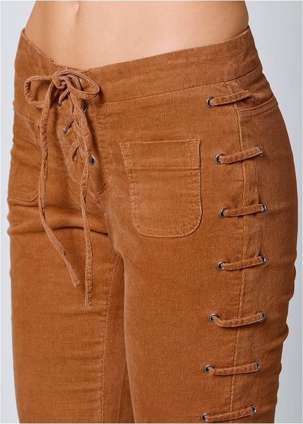 ALTERNATE VIEW Lace Up Corduroy Pants