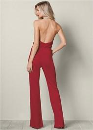 BACK VIEW Pearl Neckline Jumpsuit