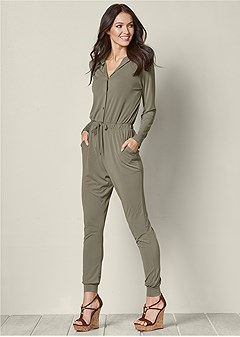 pocket detail jumpsuit