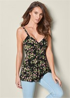 layered floral tank