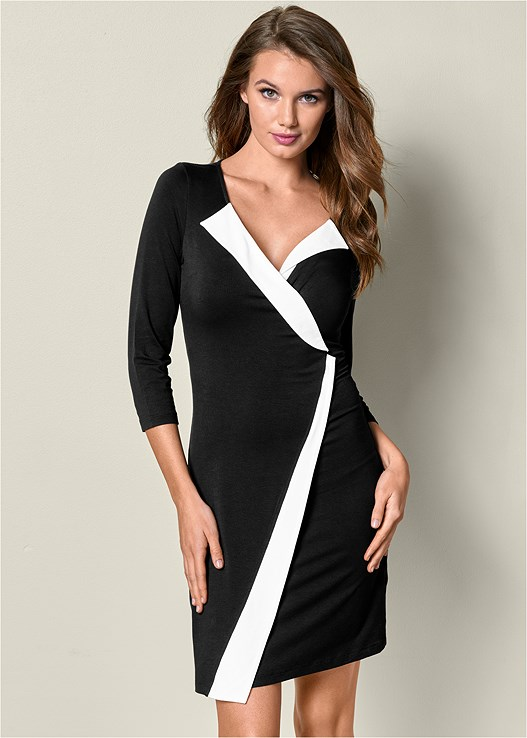 WRAP DETAIL DRESS