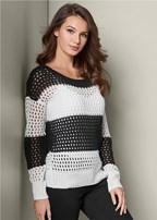 loose knit striped sweater