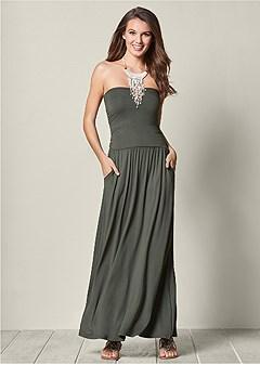 pocket detail maxi dress