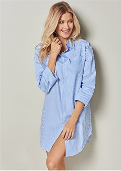 button down sleep dress
