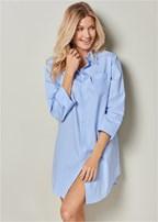 button down sleep dress