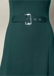 Alternate View Buckle Detail Swing Dress