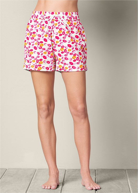 8d915b34e1 Pink Multi DRAWSTRING SLEEP SHORTS from VENUS