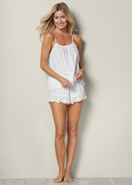 Front view Eyelet Sleep Set