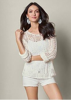 open knit sweater