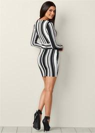 Back view Stripe Bodycon Dress