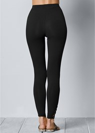 Back View Ankle Detail Leggings