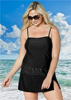 plus size bandeau swim dress