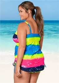Back View Adjustable Long Tankini Top