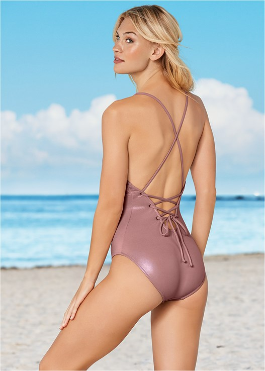 DEEP V-NECK ONE PIECE