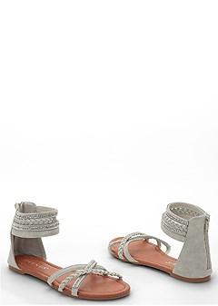 strappy braided sandal