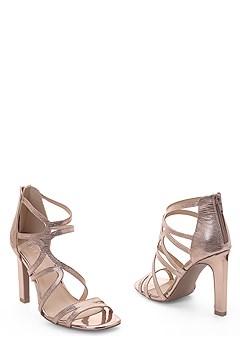 metallic cage heel