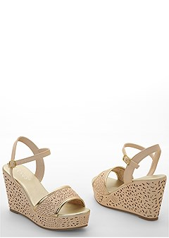gold detail wedge