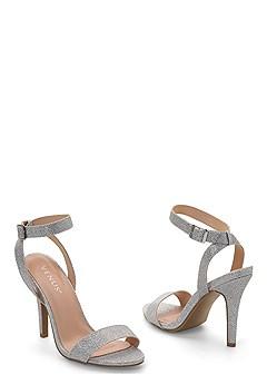 sparkle strappy heel