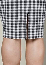 ALTERNATE VIEW Gingham Ruffle Midi Skirt