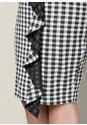 ALTERNATE VIEW Gingham Ruffle Midi Skirt
