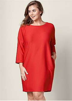 plus size casual dress with pockets