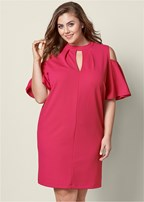 plus size keyhole detail dress